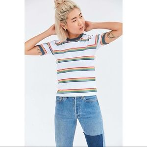🎀 Truly Madly Deeply • Jewel Striped Ringer Tee